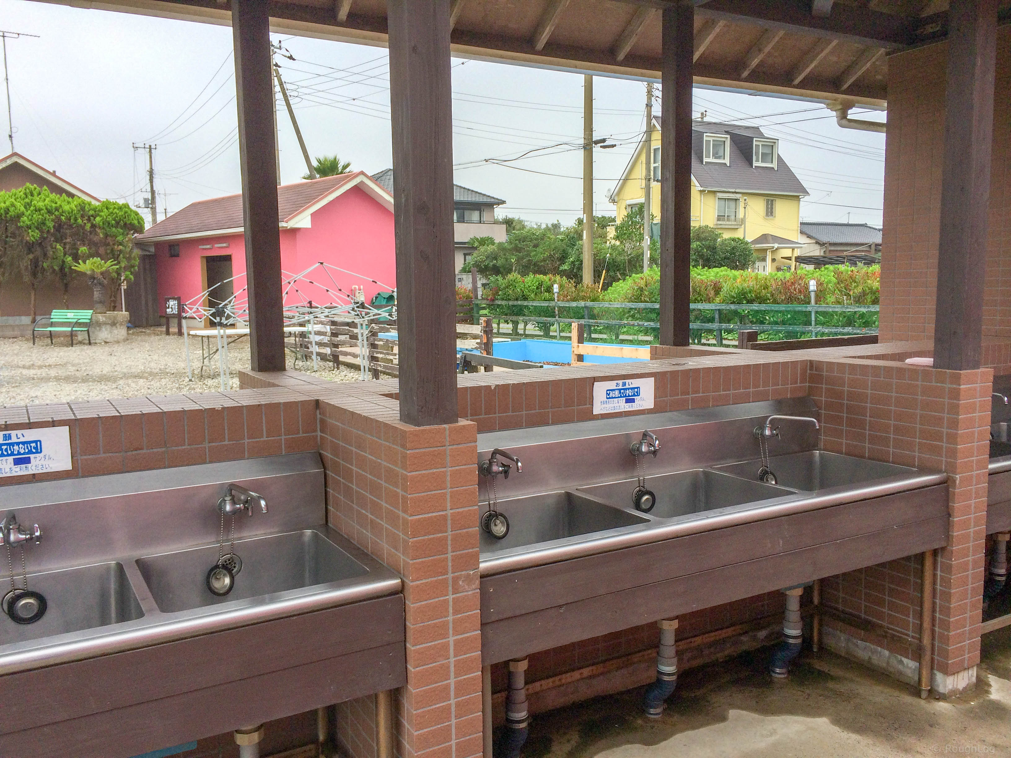 九十九里シーサイドオートキャンプ場の洗い場