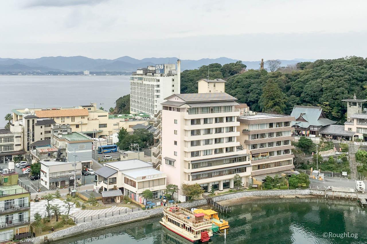 浜名湖かんざんじ温泉 ホテル九重客室内より