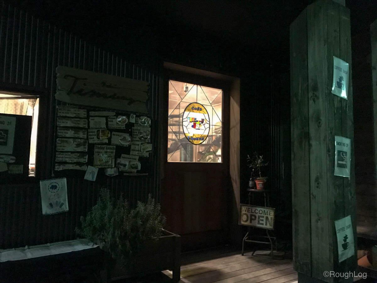 カフェ ティムニー 夕方