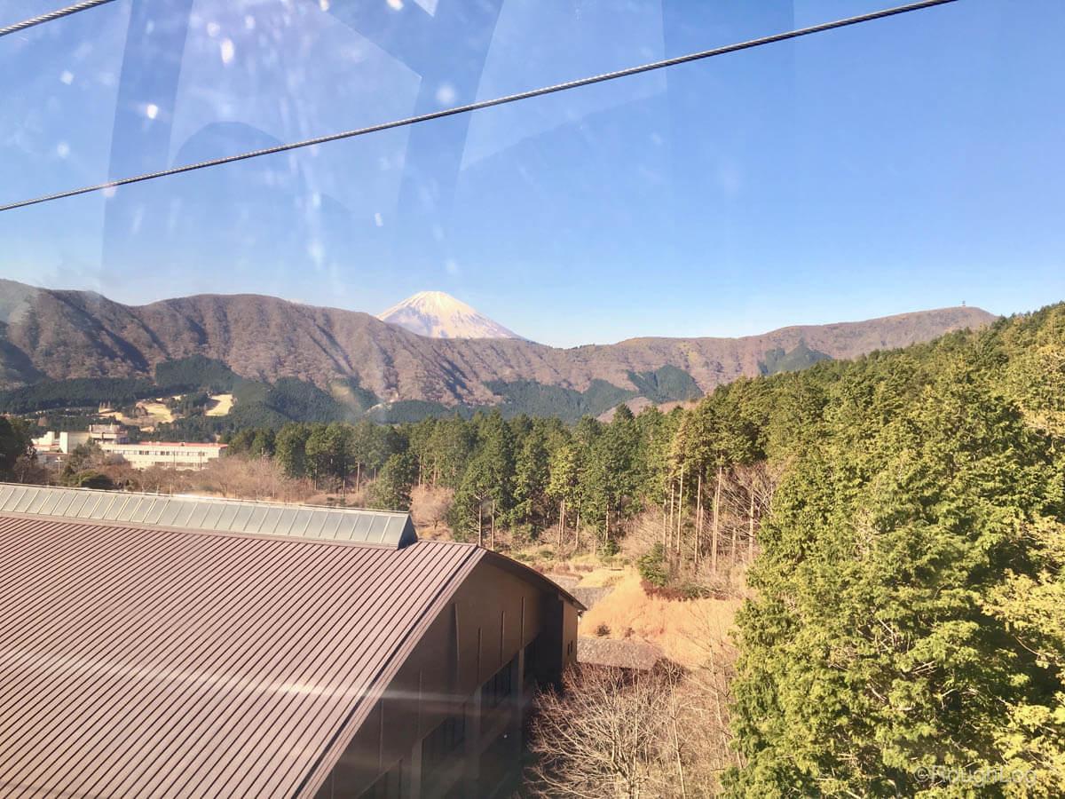 箱根ロープウェイは芦ノ湖や天候次第では富士山を眺めながらの空中散歩が楽しめます