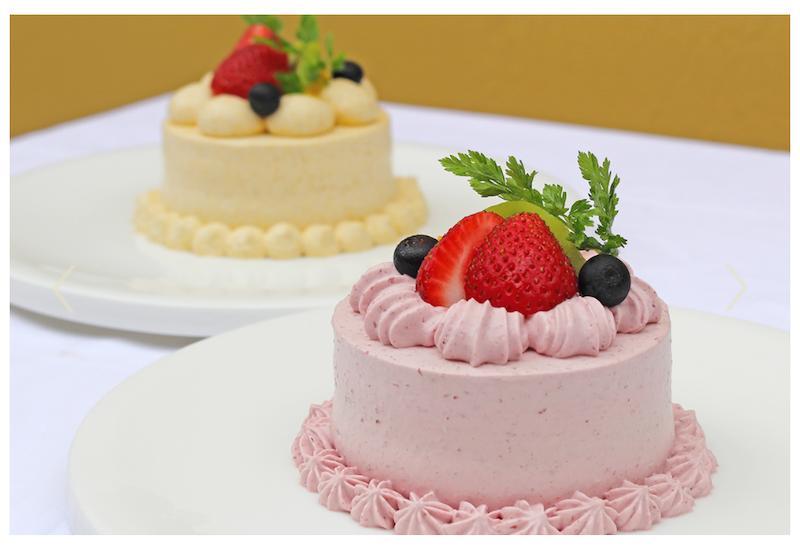 ドギーズアイランド「ザ フォレストテラス」のわんちゃんケーキ