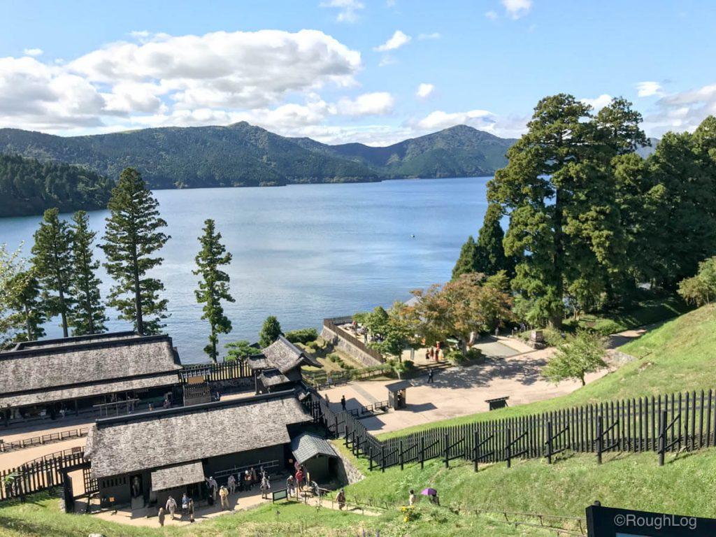 箱根関所跡からの景色