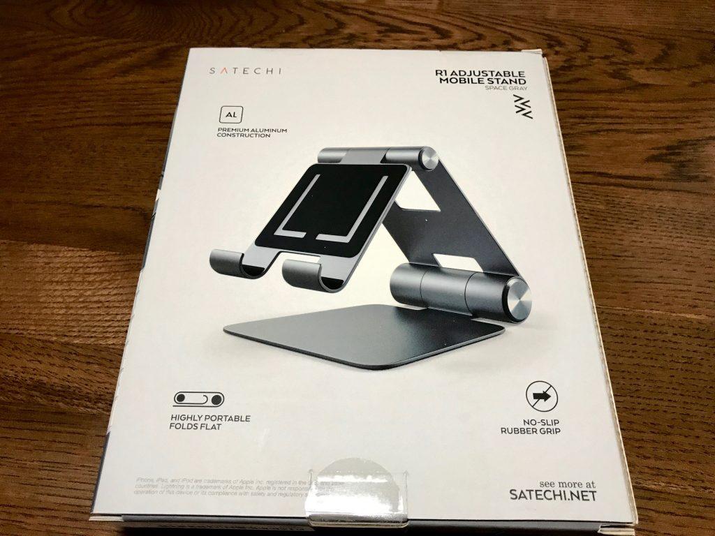 Satechi R1 タブレットスタンドのパッケージ裏