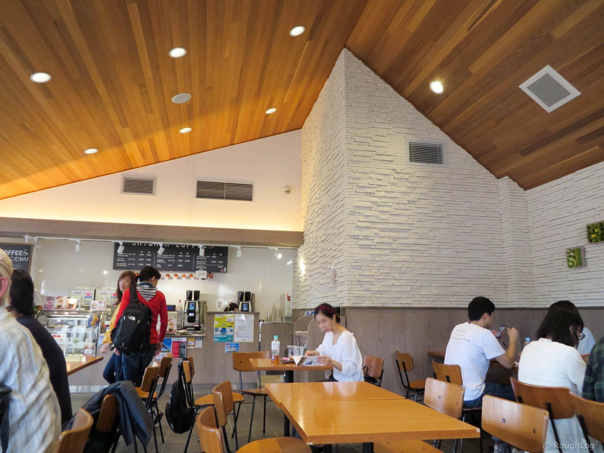 三島スカイウォーク スカイウォークコーヒー店内