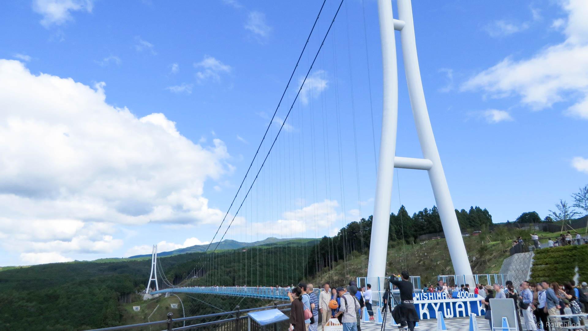 日本一の長さを誇る大吊橋「三島スカイウォーク」