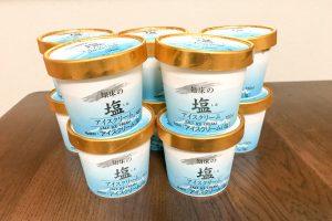 知床の塩アイスクリームセット