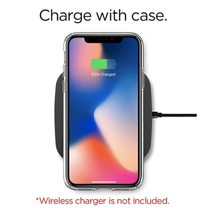 Spigen iPhone X ケース Liquid Crystal ワイヤレス充電対応