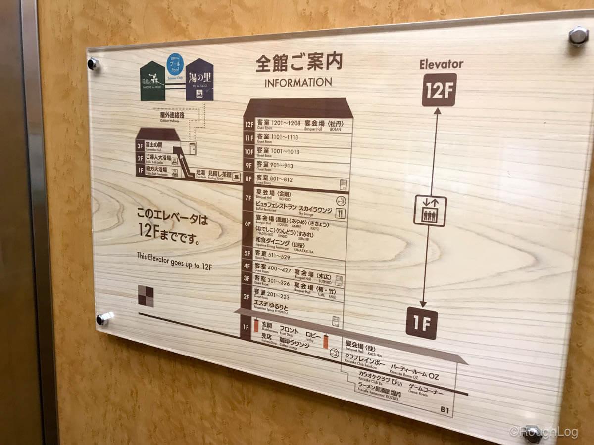 箱根 ホテルおかだ 館内図