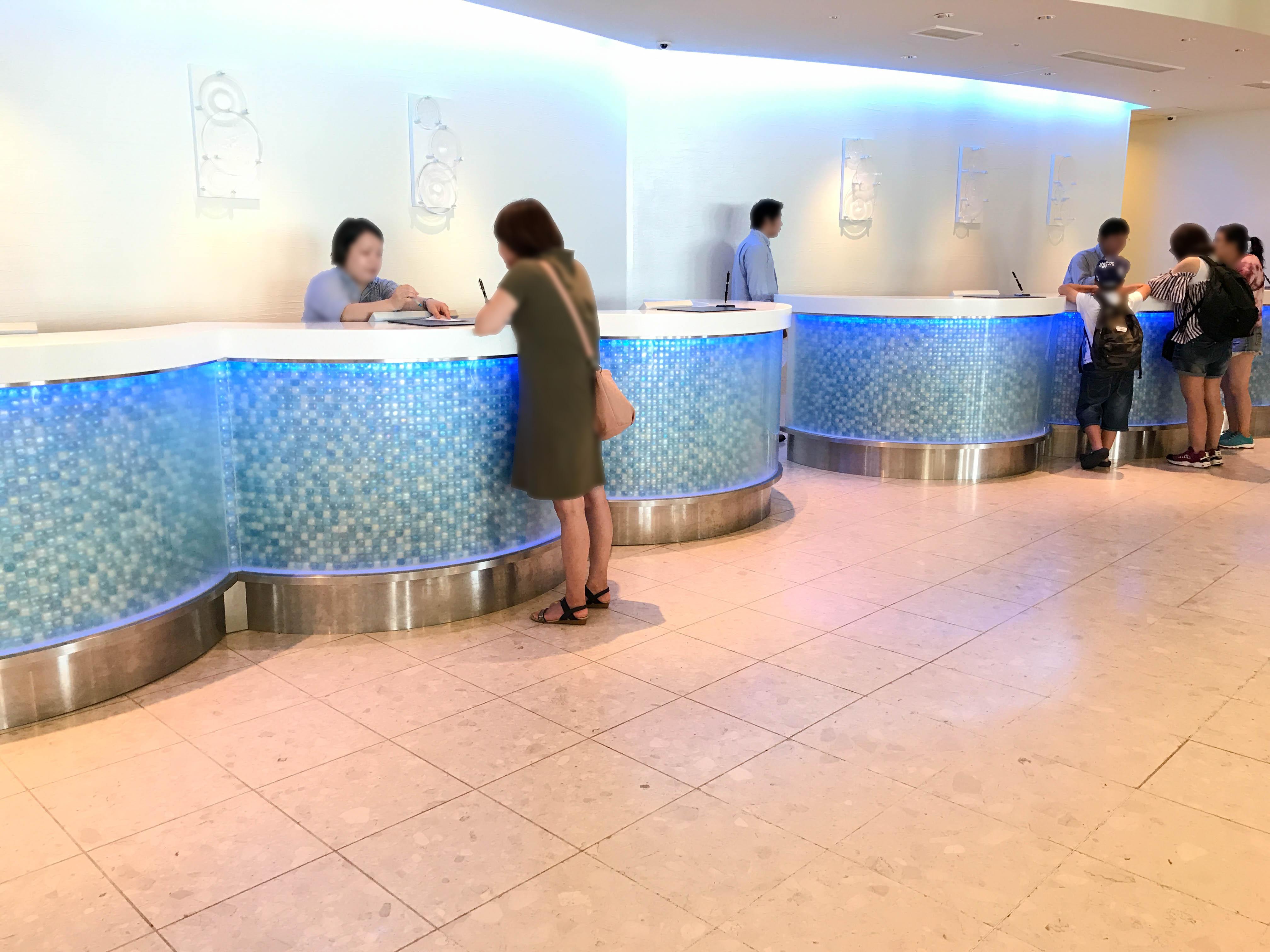 ANAインターコンチネンタル万座ビーチリゾートのフロント