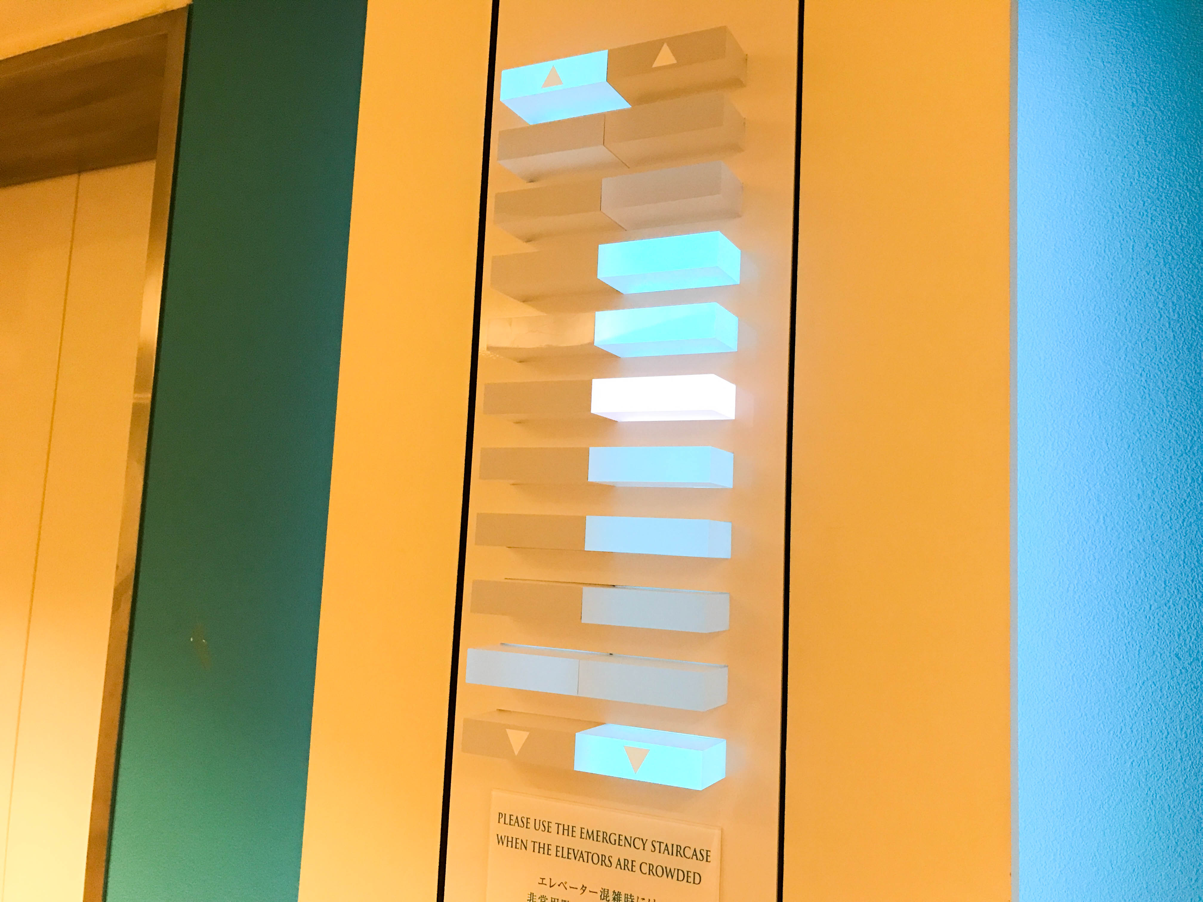ANAインターコンチネンタル万座ビーチリゾートのエレベータ