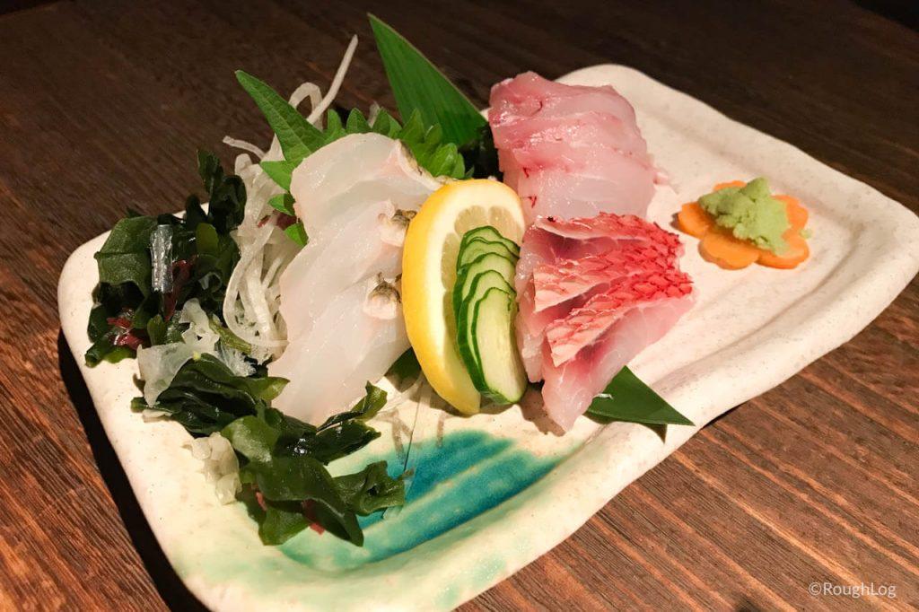 沖縄ととちゃんぷるの「地魚刺身3種盛」