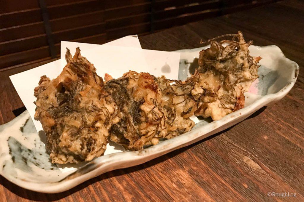 沖縄ととちゃんぷるの「もずくの天ぷら」