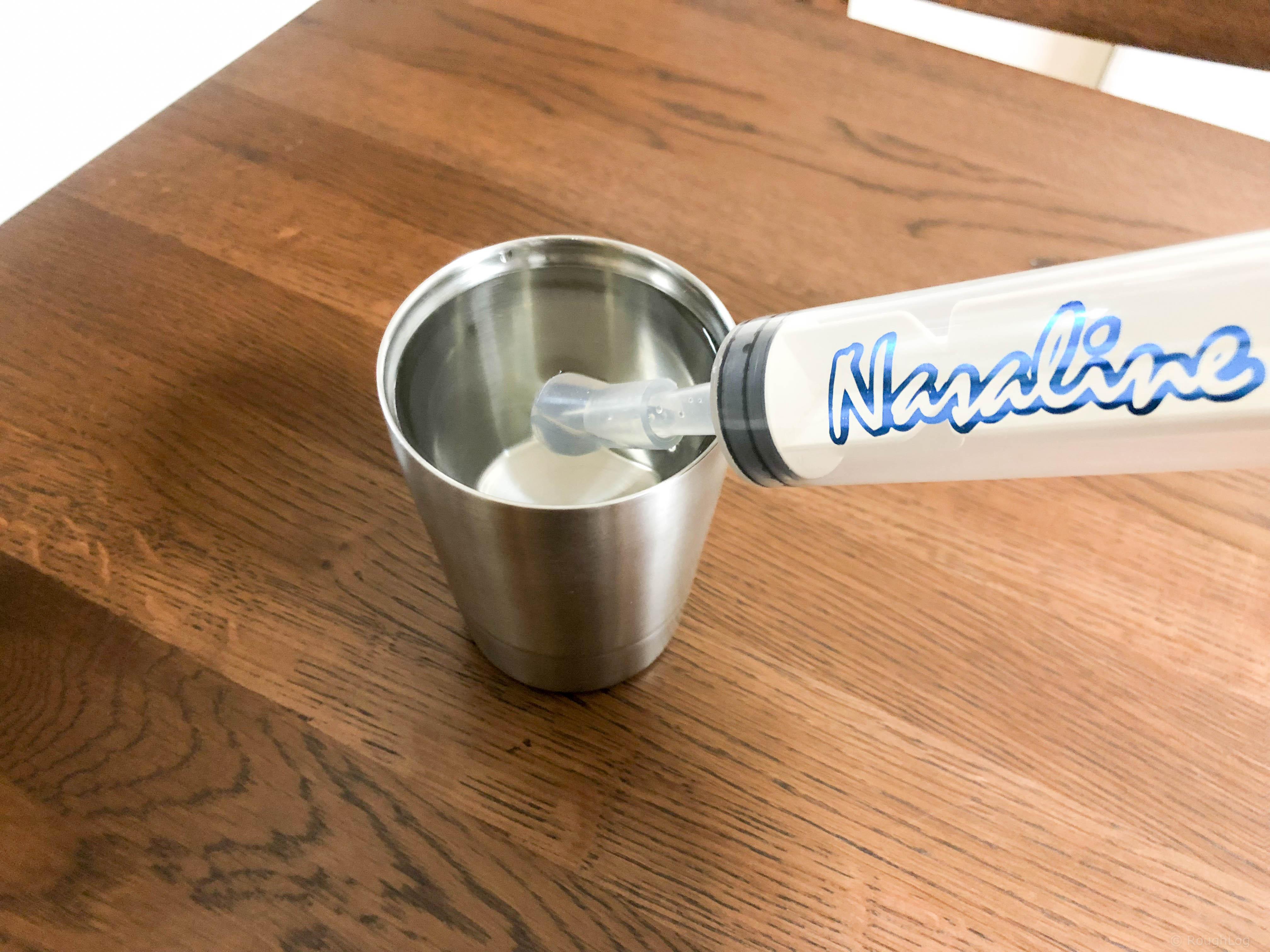 ナサリン鼻洗浄器で鼻うがいする方法