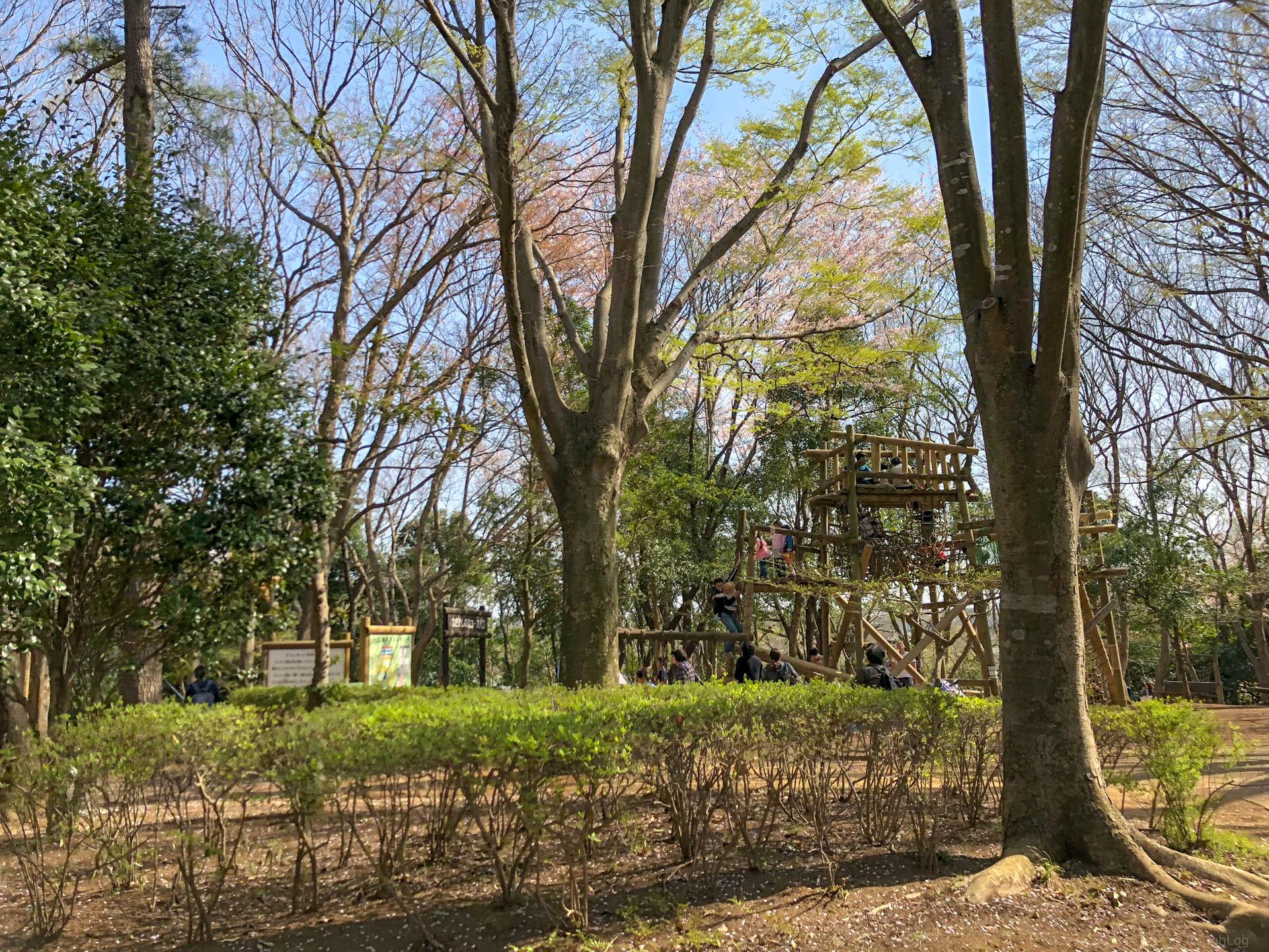 千葉県船橋市の「ふなばしアンデルセン公園」でアスレチック