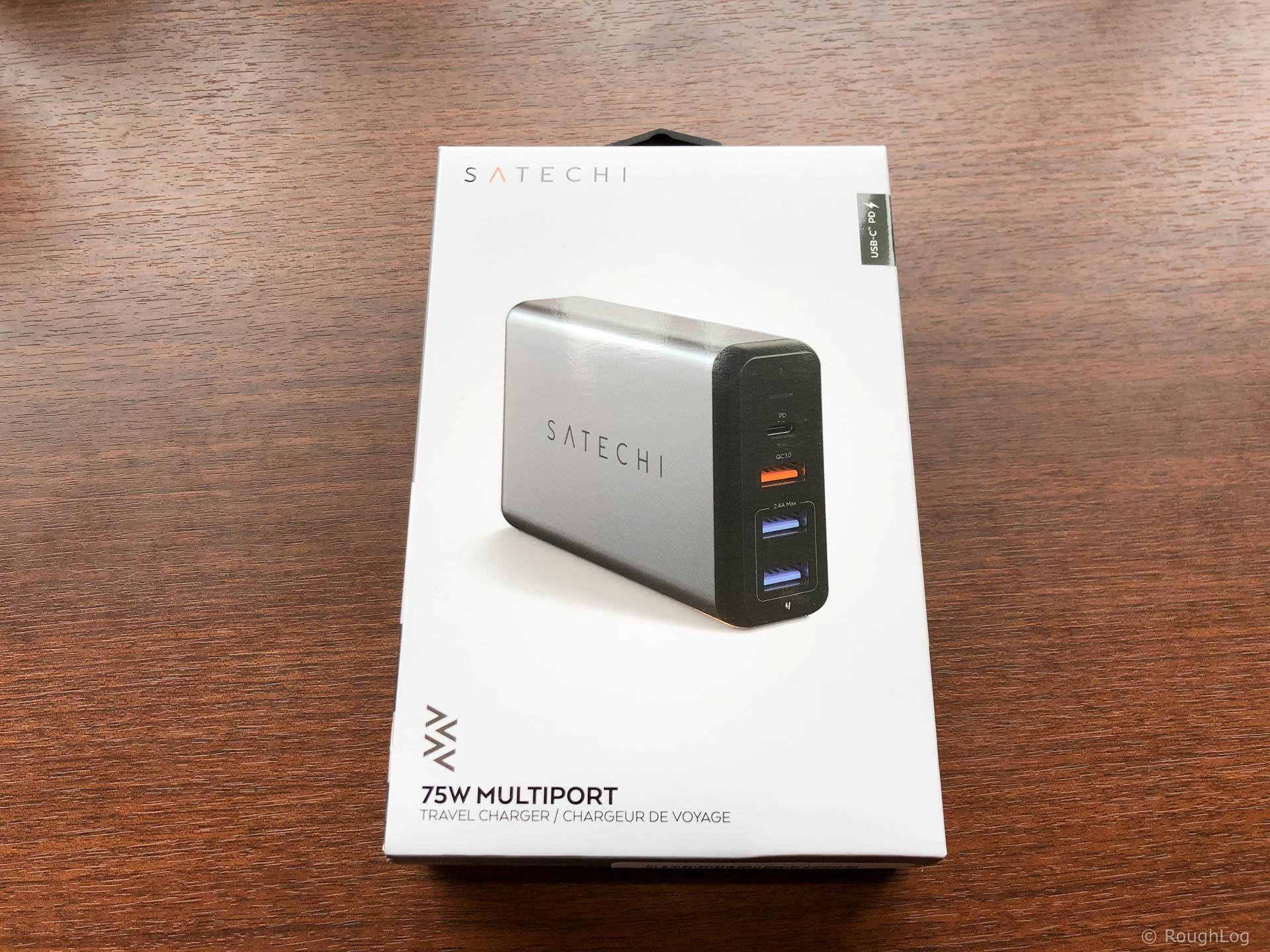 Satechi Type-C トラベルチャージャーのパッケージ