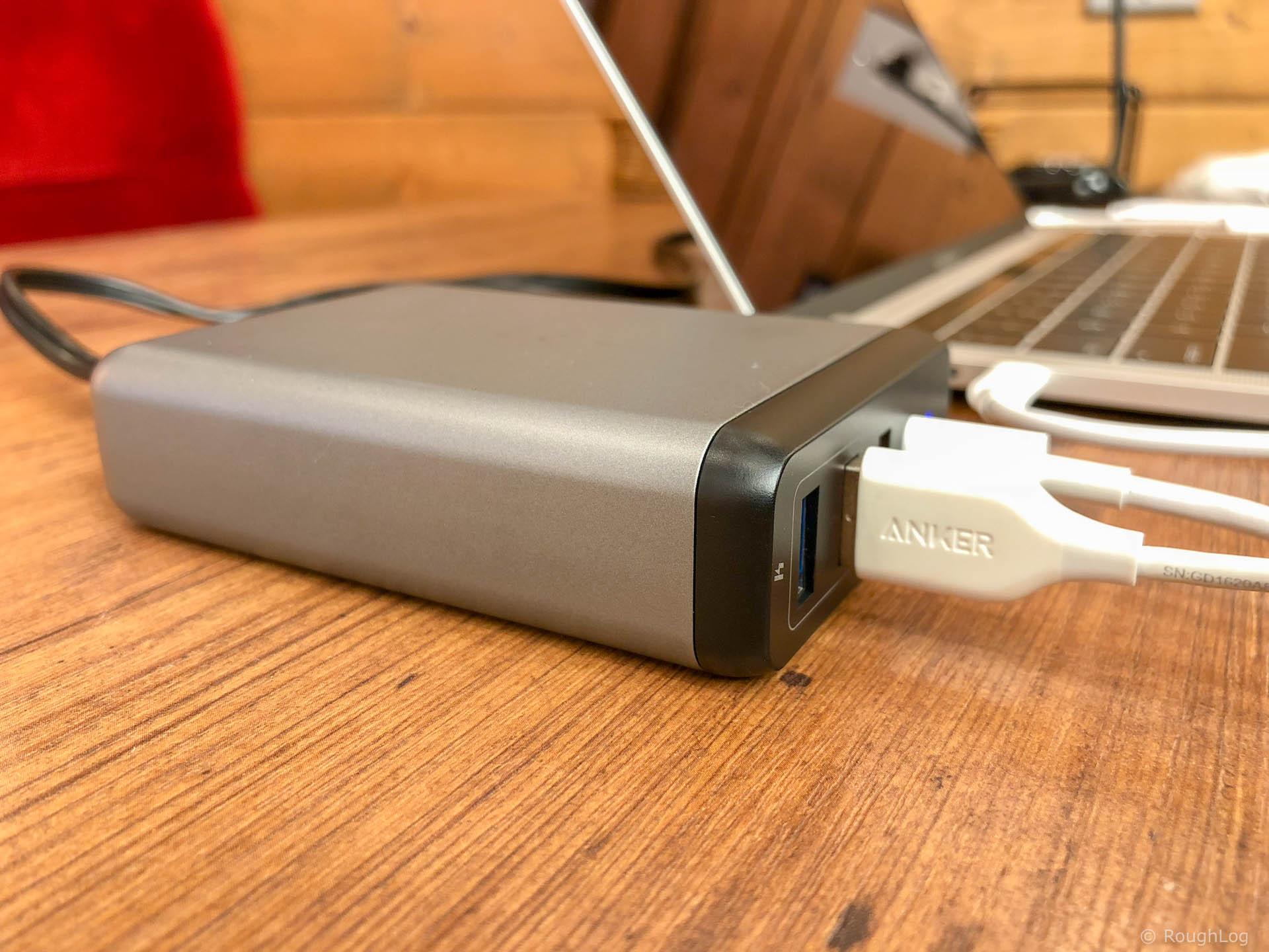 Satechi Type-C トラベルチャージャーとMacBook Pro