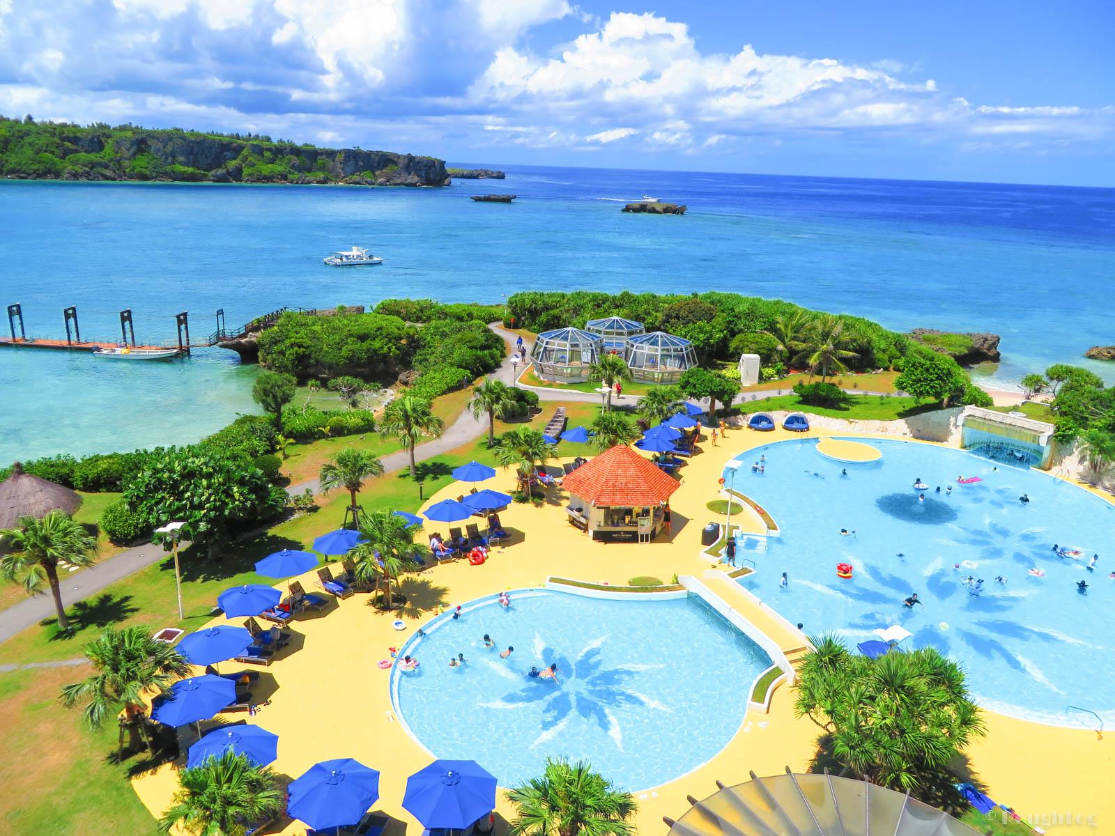ANAインターコンチネンタル万座ビーチリゾートホテルから眺める沖縄の海