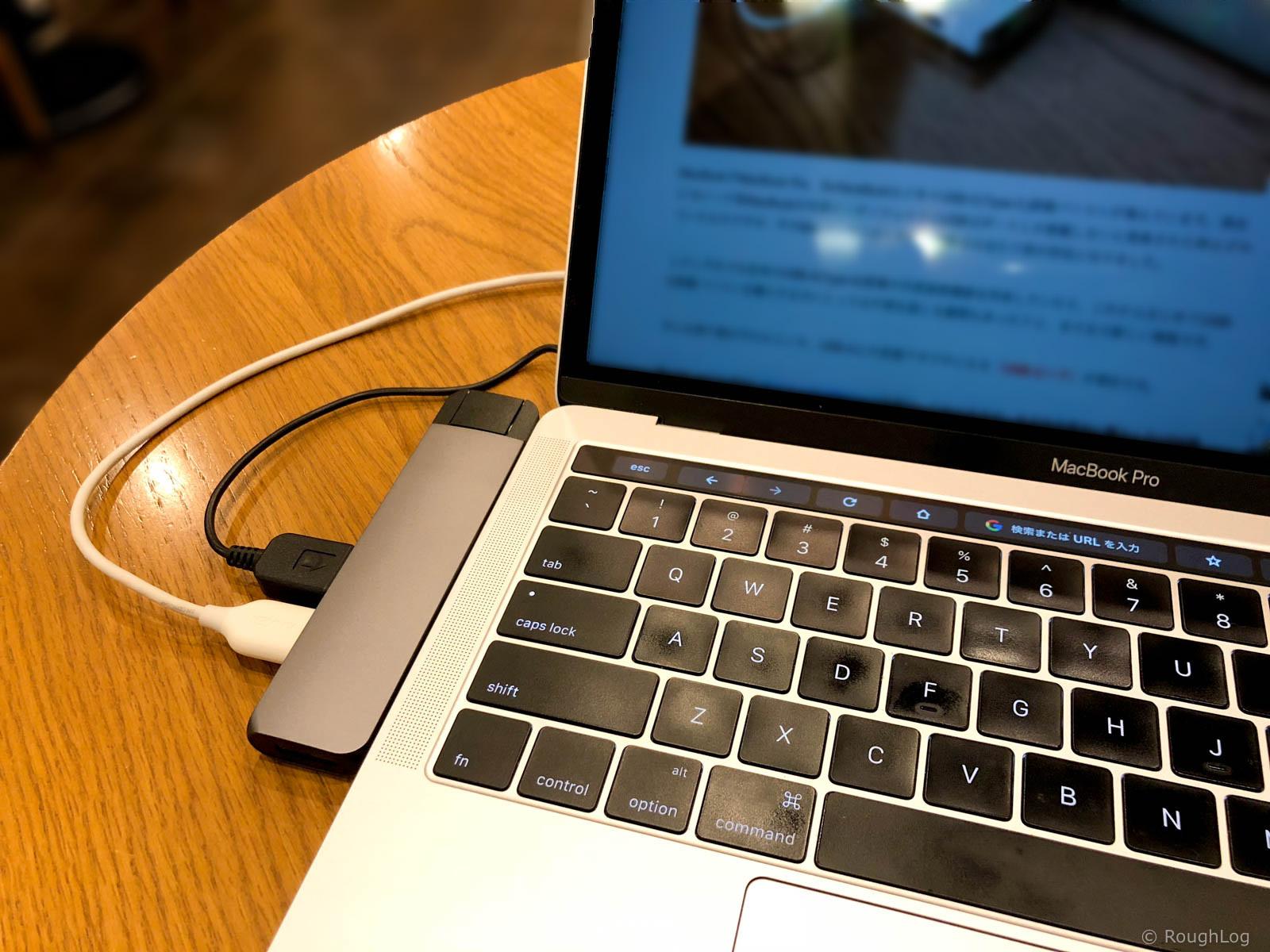 Satechi USB-C Pro ハブとMacBook Pro