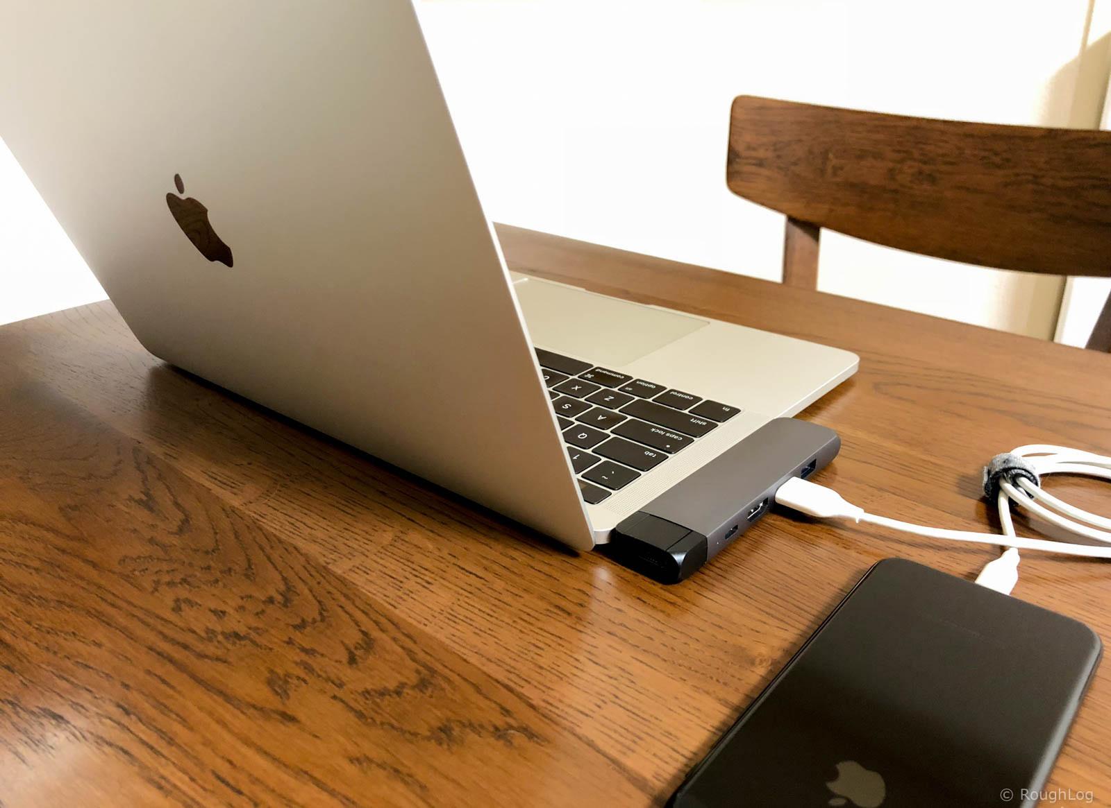 Satechi USB-C Pro ハブを使ってMacBook ProとiPhoneを接続
