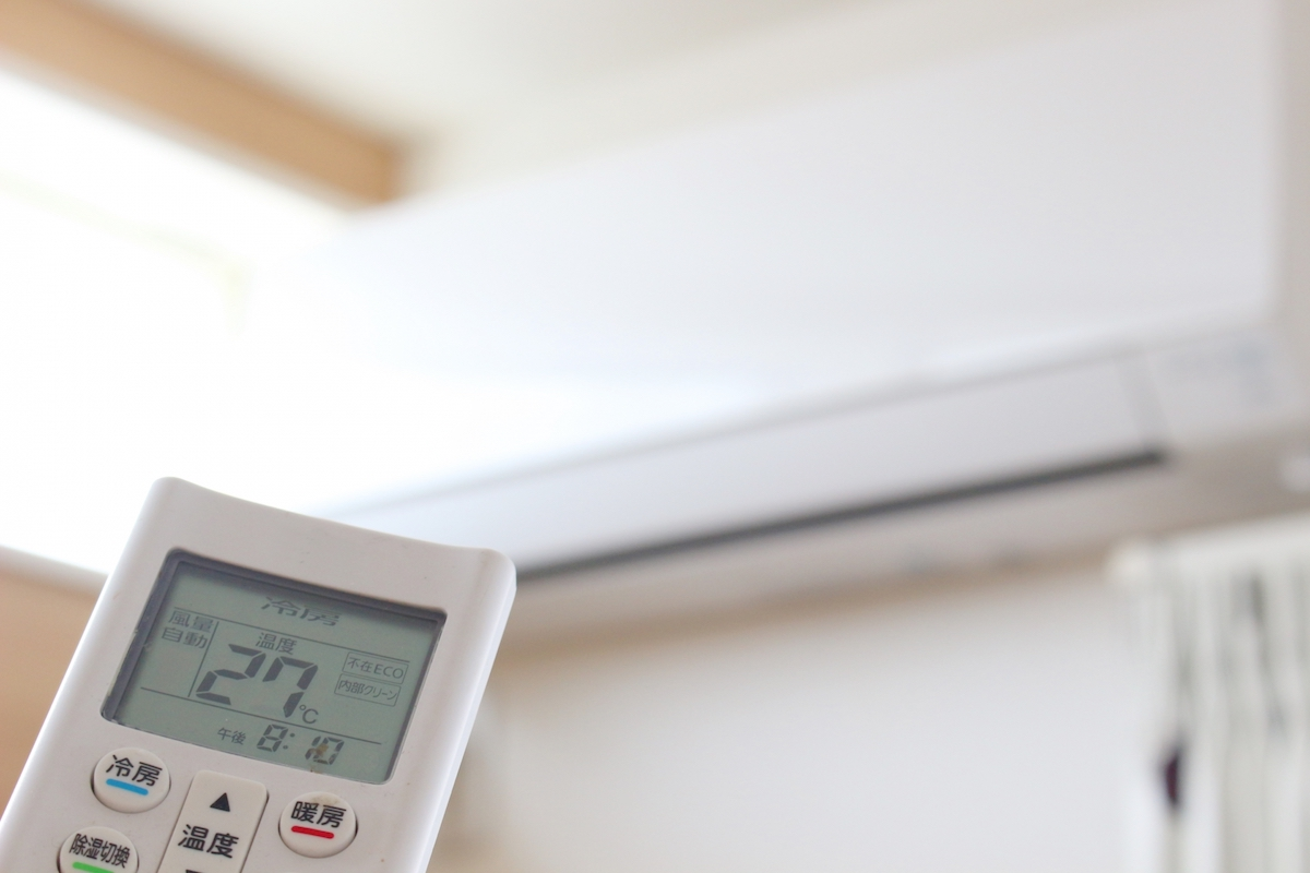 エアコンの効いた涼しい部屋