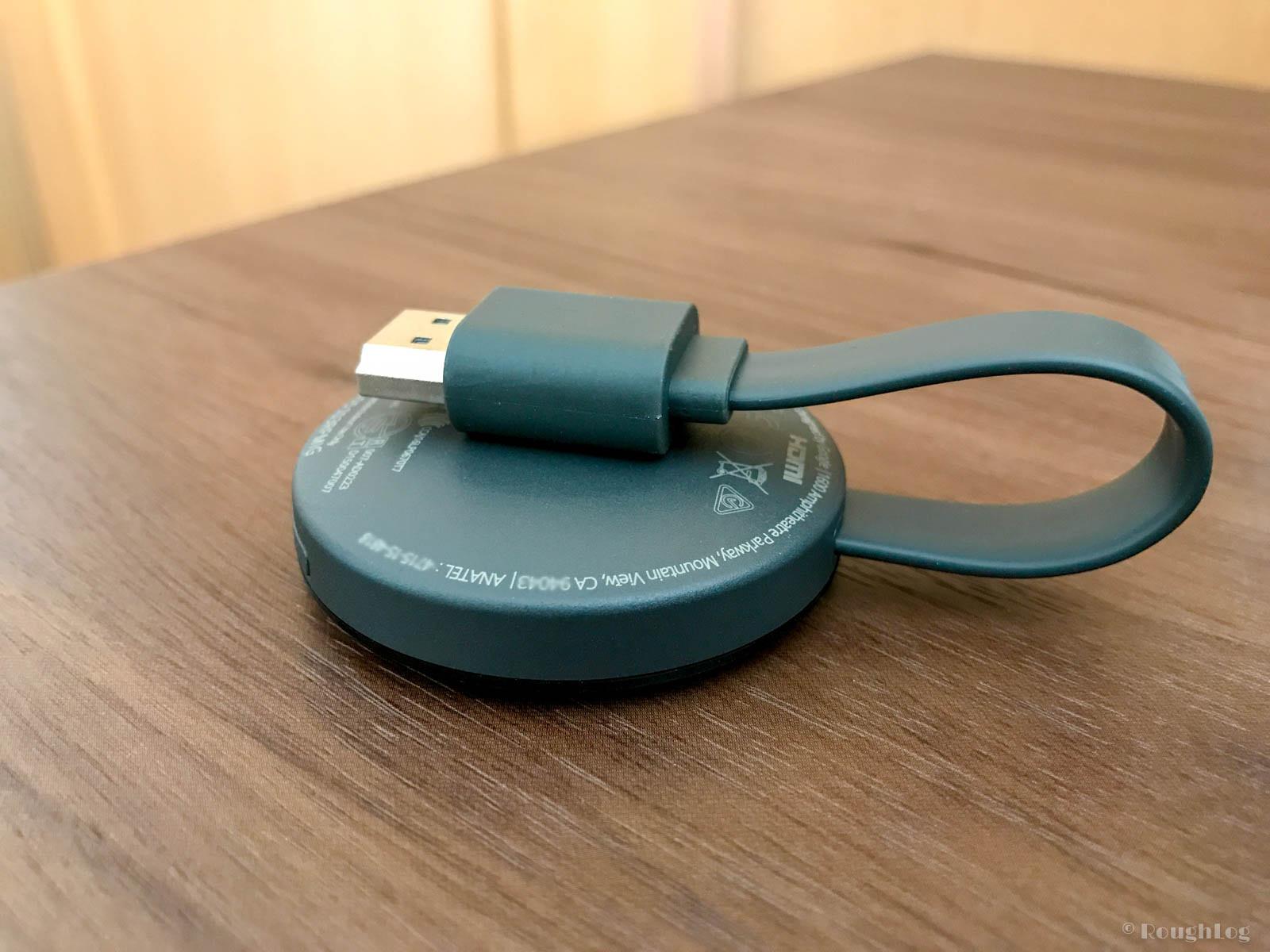 Google Chromecast 収納時はケーブルを折り曲げる