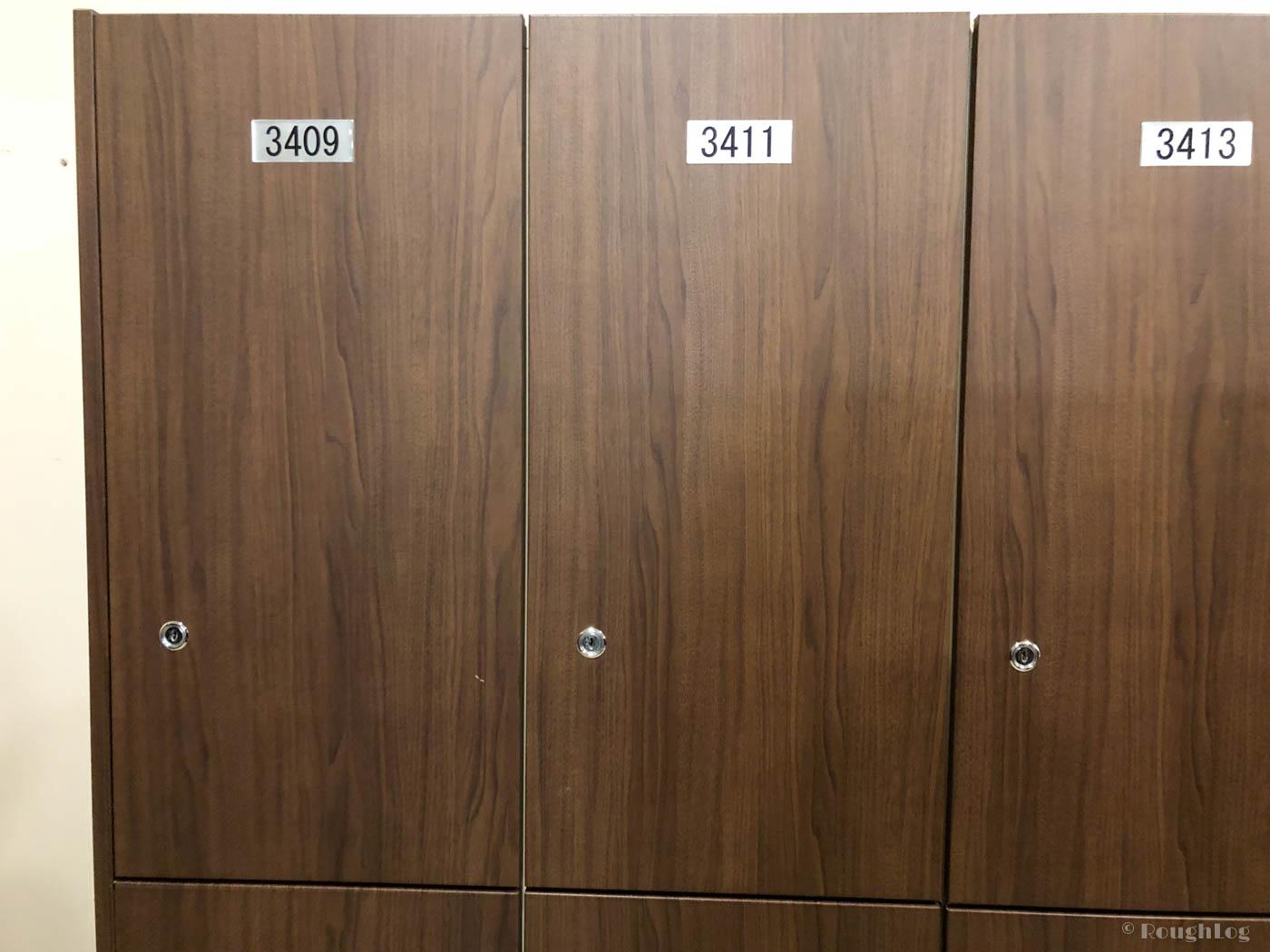 箱根小涌園ユネッサンの更衣室ロッカー