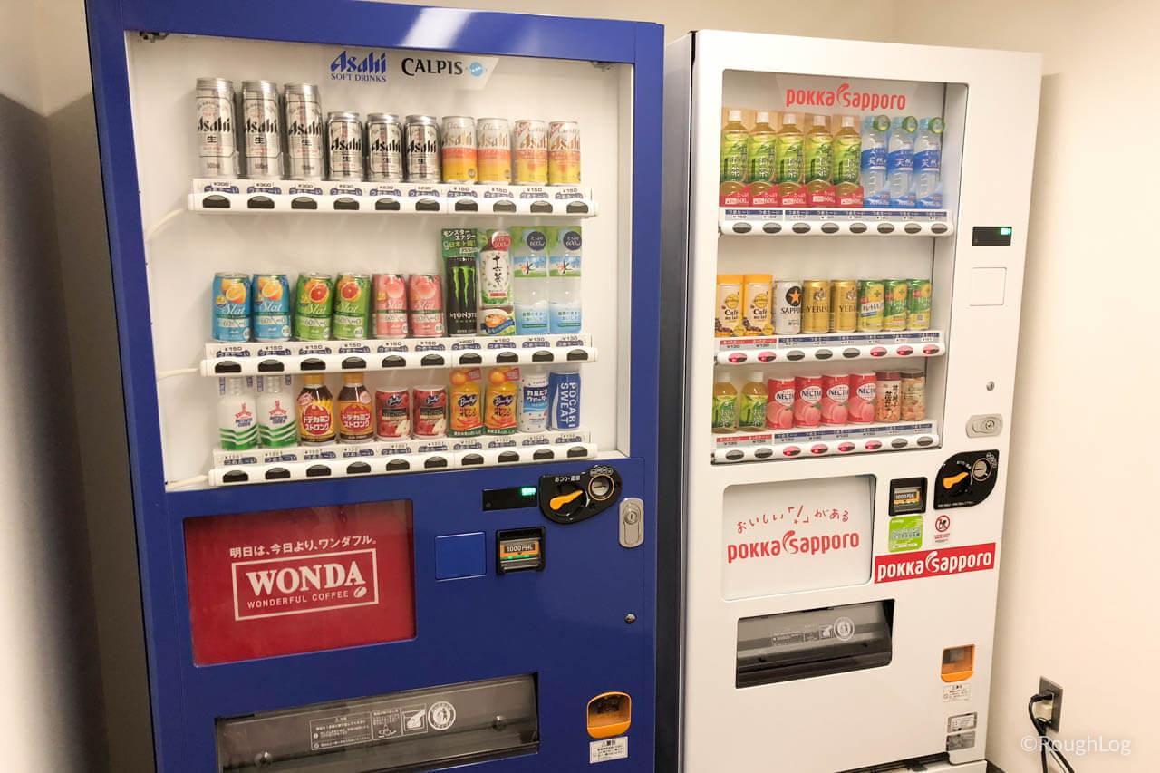 リ・カーヴ箱根の温泉大浴場前に設置されている自動販売機
