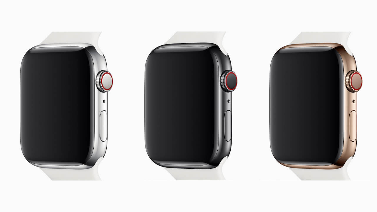 Apple Watch Series 4はシルバー・スペースグレイ・ゴールドの3色展開
