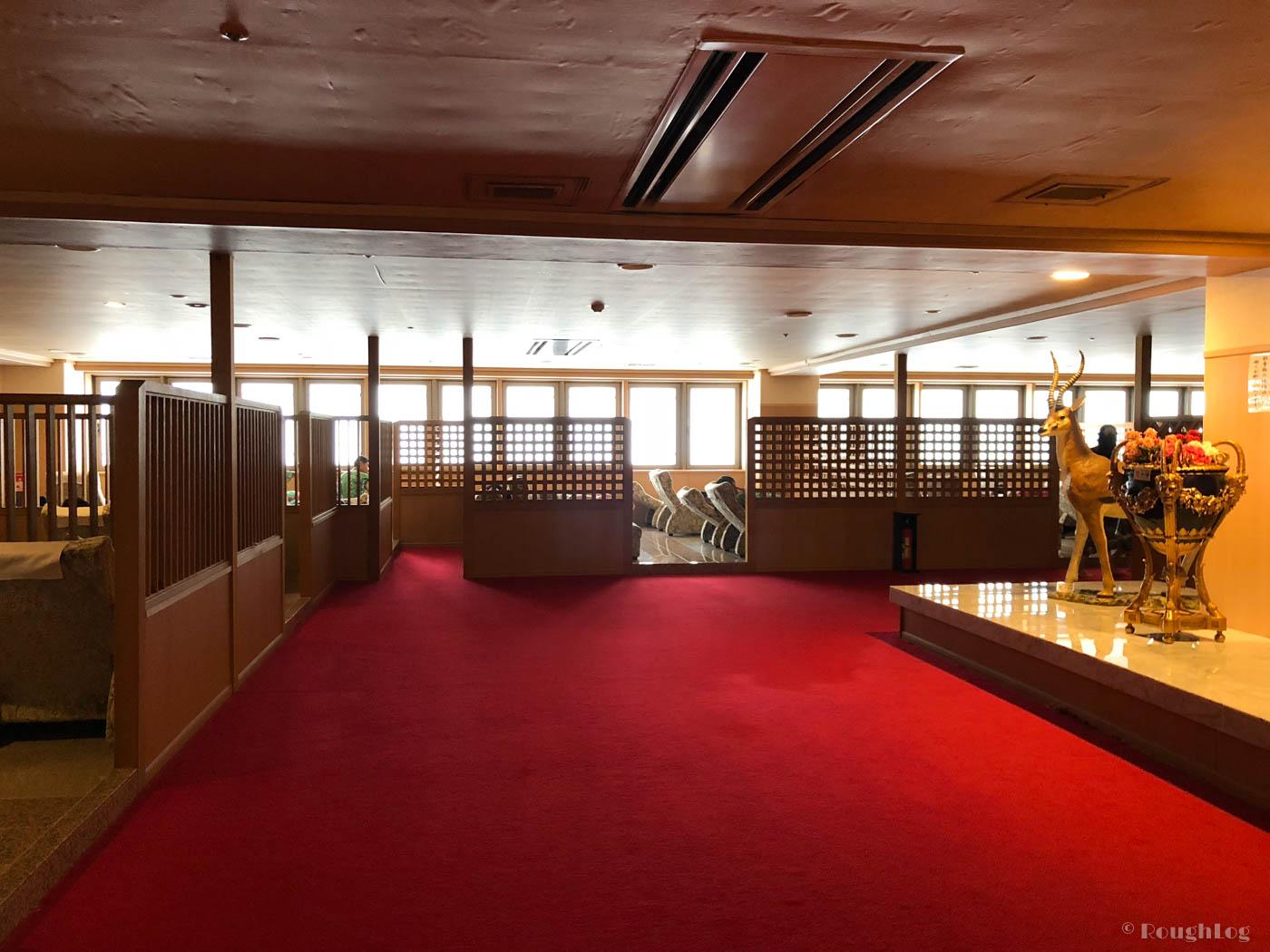 龍宮城スパホテル三日月の無料休憩所