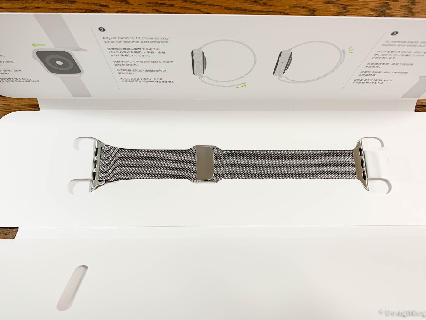 Apple Watch Series 4用にミラネーゼループを購入