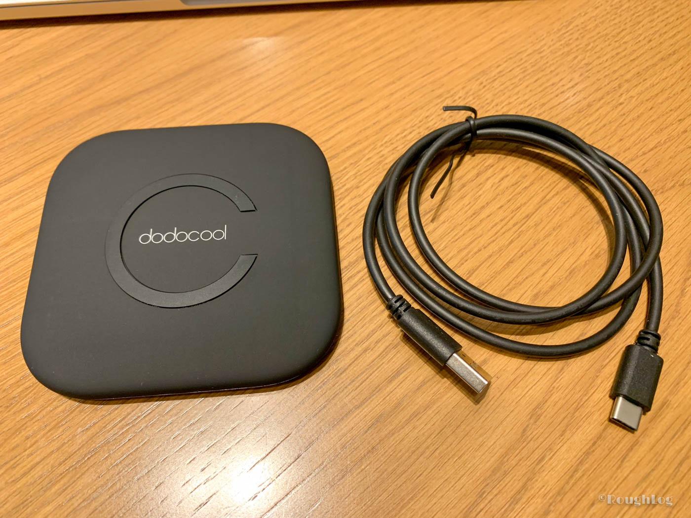 dodocool製Qiワイヤレス充電器の中身は本体とUSBケーブル