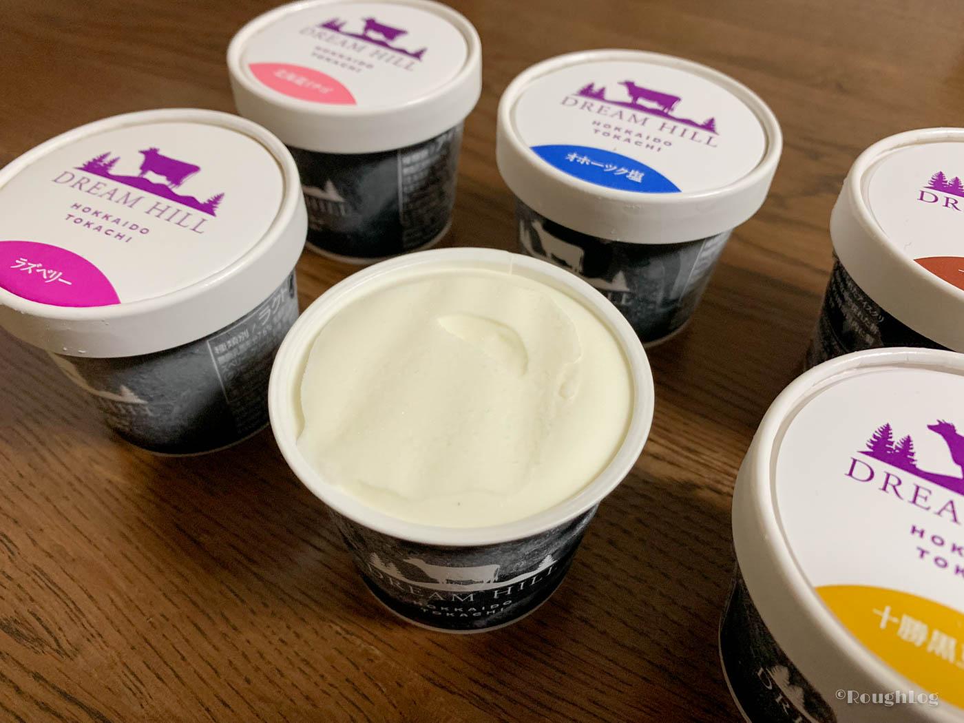 ドリームヒルのアイスクリーム十勝ミルク味