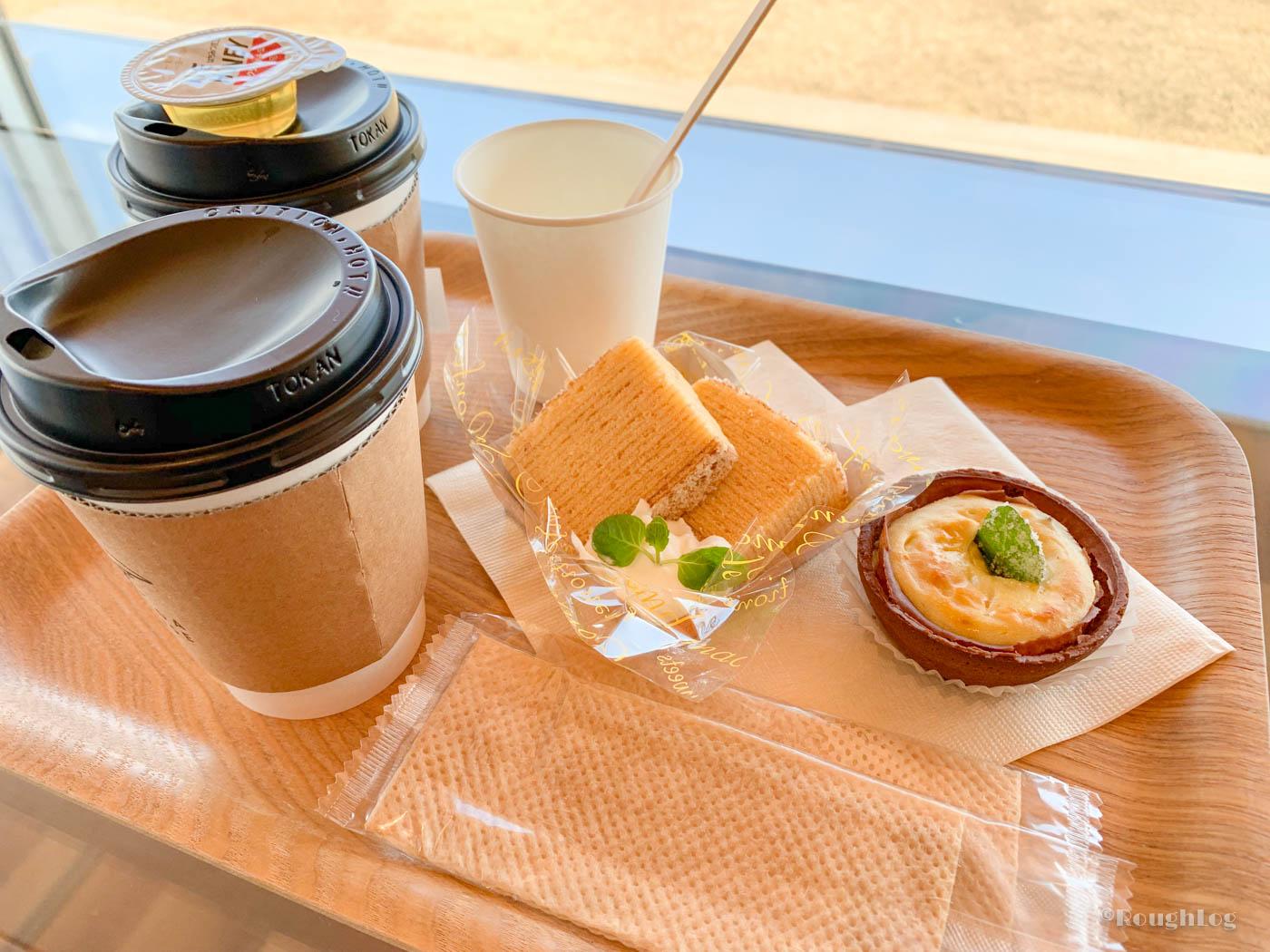 コエダハウスの珈琲・コエダクーヘン・熱海タルトフロマージュ(限定品のショコラミント)