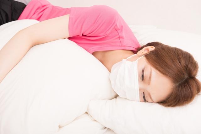 マスクしたまま寝ると喉を潤してくれる(乾燥対策)
