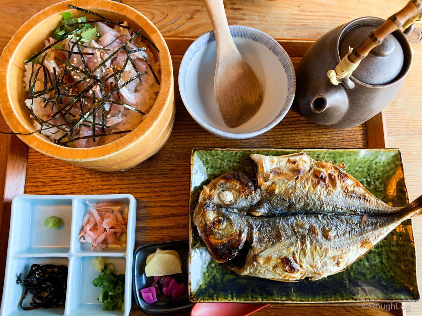 熱海駅周辺で海鮮ランチ!囲炉茶屋で美味しい魚料理を食べてきた
