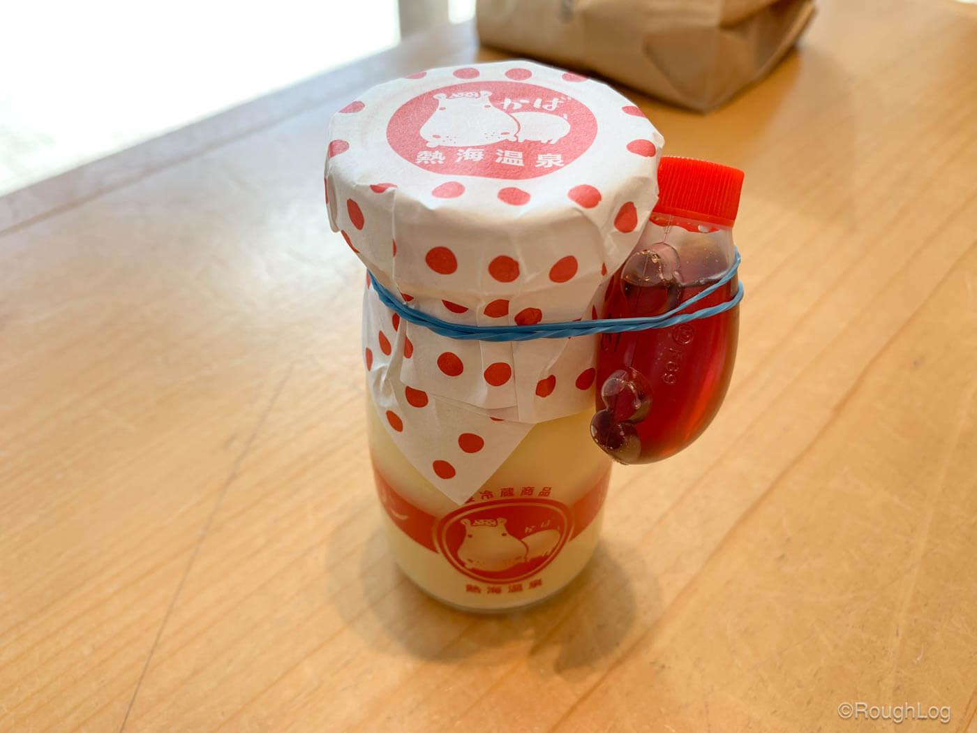 熱海プリンの特性カラメルソース