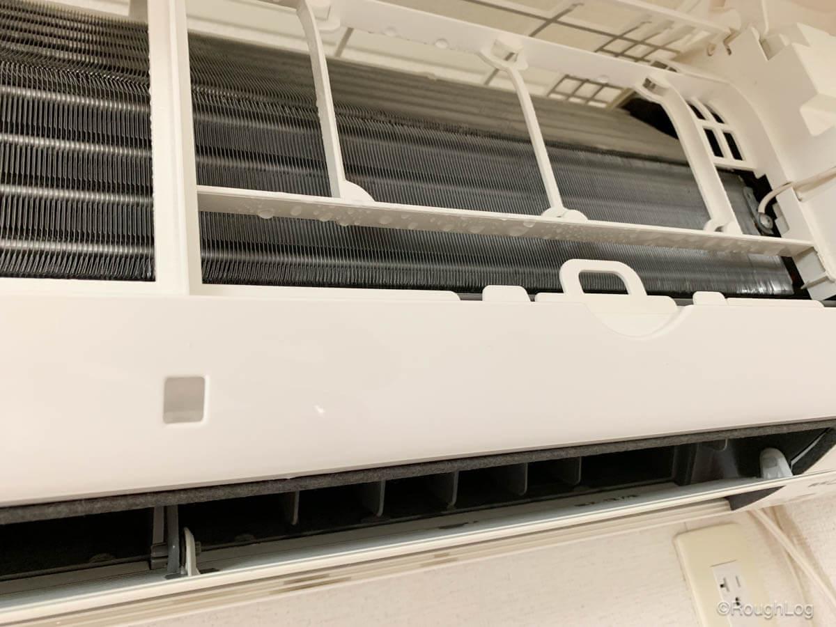 エアコンクリーナーAg+を使う時は水垂れに備えてビニールやタオルを用意しておく