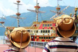 箱根海賊船で芦ノ湖周遊