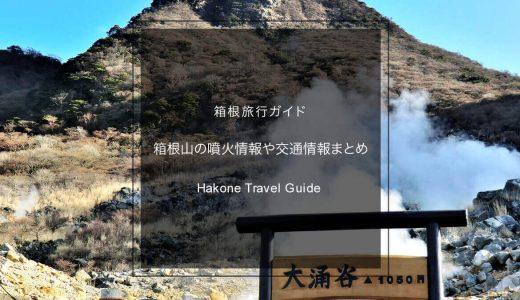 箱根旅行に行って大丈夫?箱根山の噴火情報・大涌谷などの規制情報まとめ(2020年版)