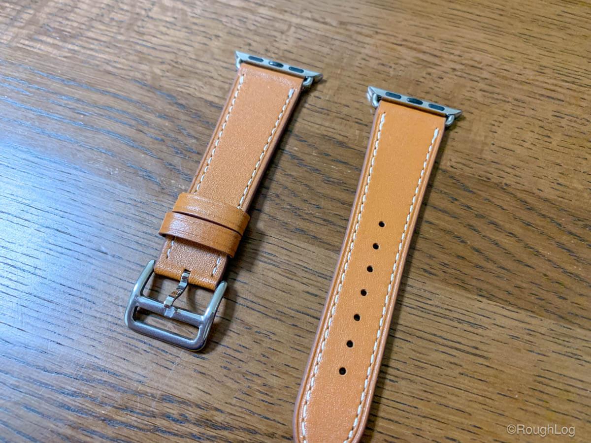 Wollpo Apple Watch レザーバンドは傷や汚れ、ガタツキもなく作りはしっかりしている