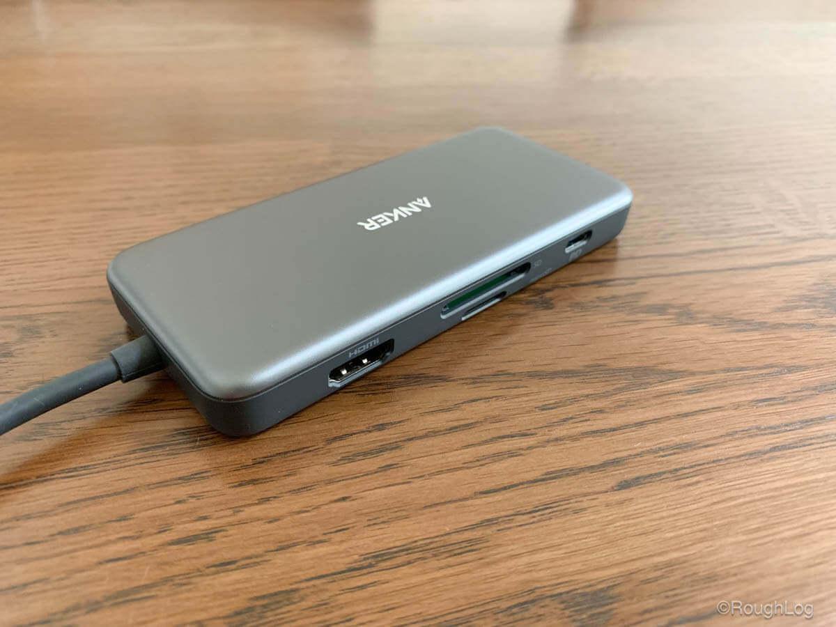 Anker 7-in-1 プレミアム USB-CハブのHDMIポート・SDカードスロット・マイクロSDカードスロット・USB-C充電用ポート