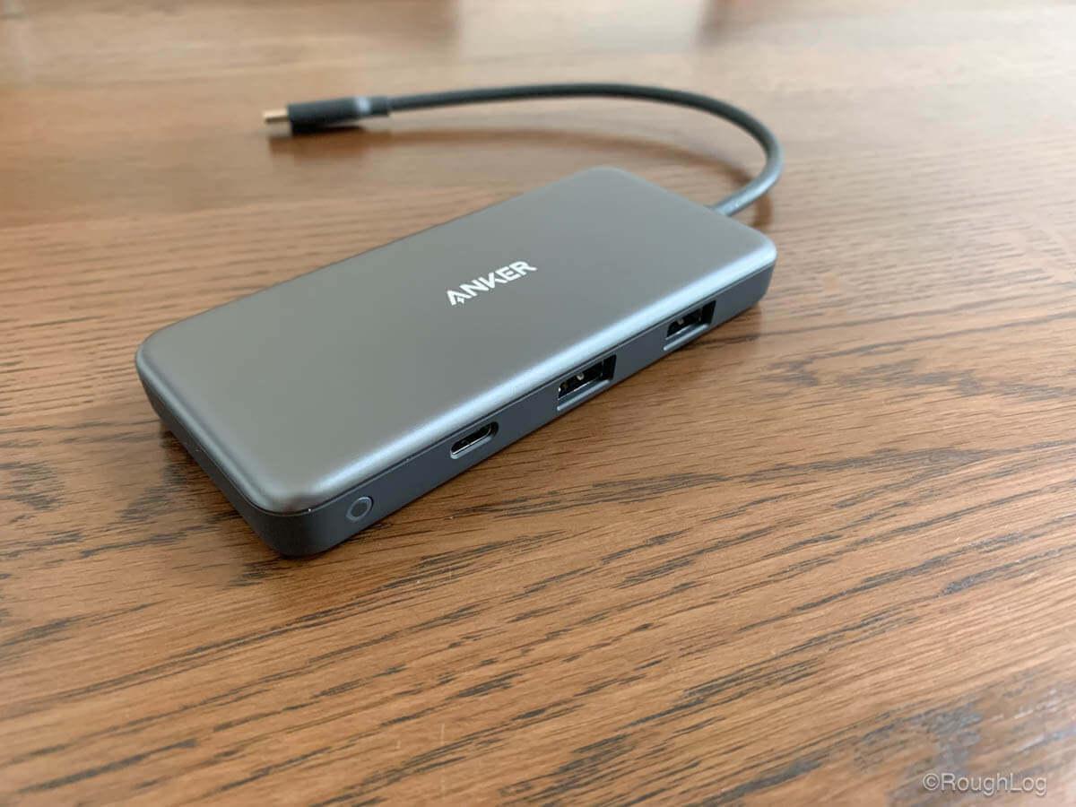 Anker 7-in-1 プレミアム USB-CハブのUSB-Aポート×2とUSB-Cデータ転送用ポート
