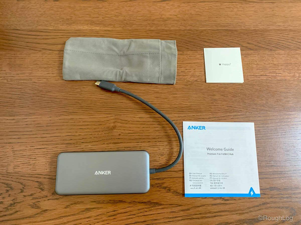 Anker 7-in-1 プレミアム USB-Cハブ付属品