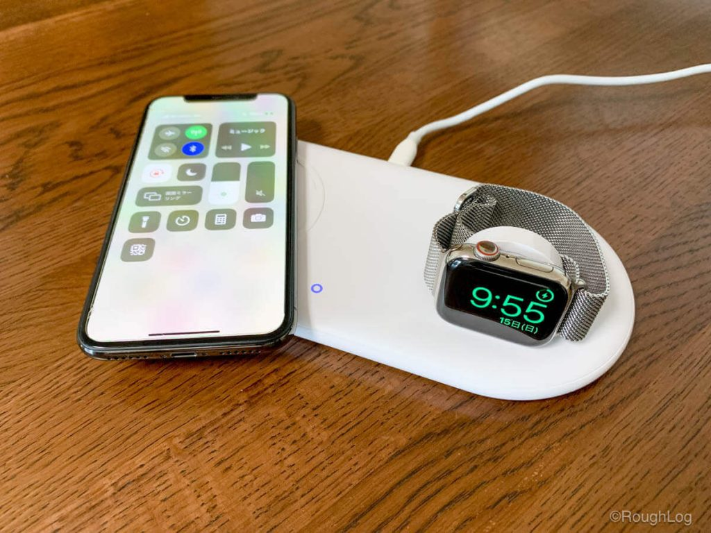 Anker PowerWave+ Pad with Watch HolderでiPhoneとApple Watchを同時に充電