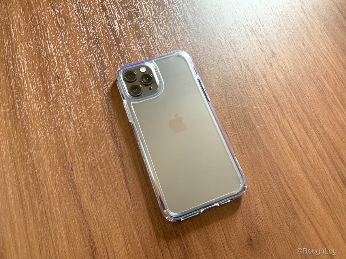 Spigen ウルトラハイブリッドをiPhone 11 Proに装着