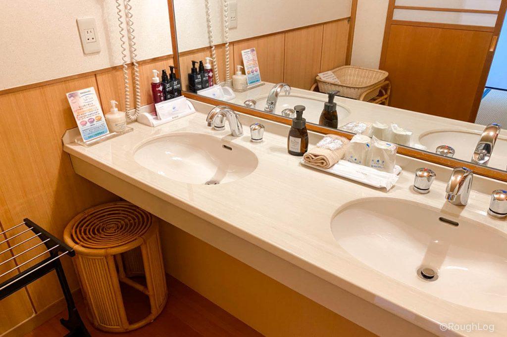 熱海後楽園ホテル タワー館の洗面所
