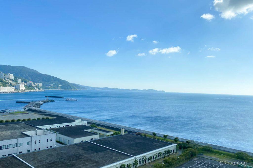 熱海後楽園ホテルの客室から見える景色