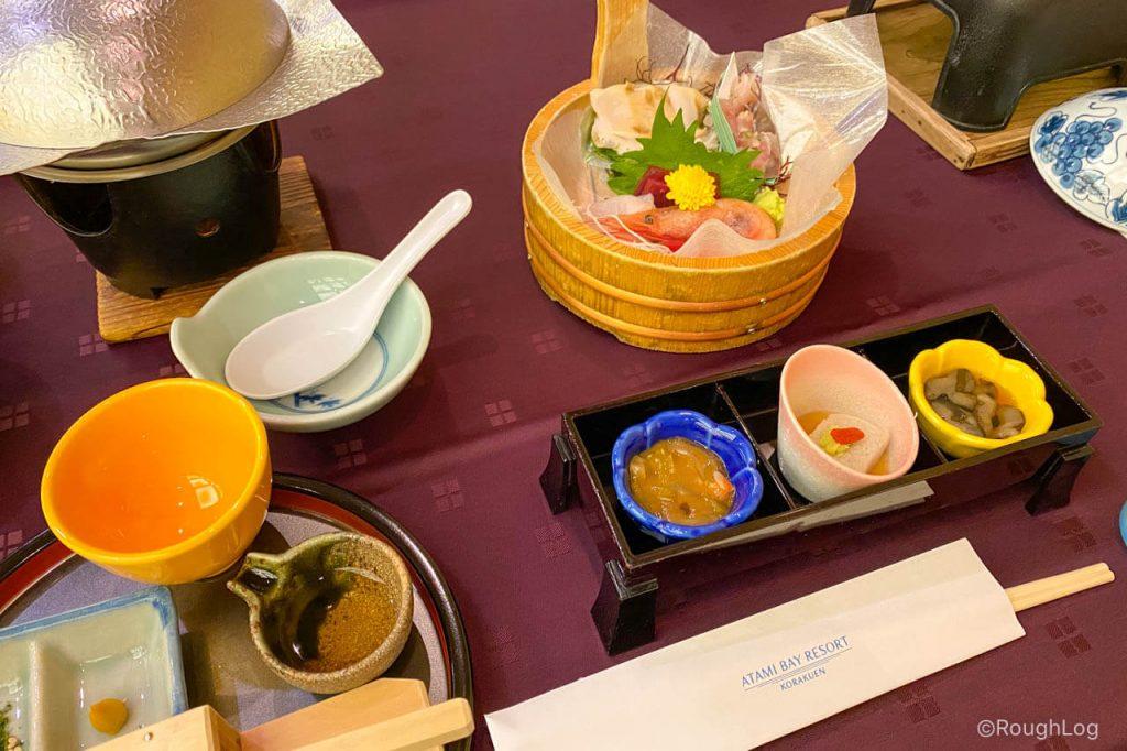 熱海後楽園ホテルの夕食は創作会席料理