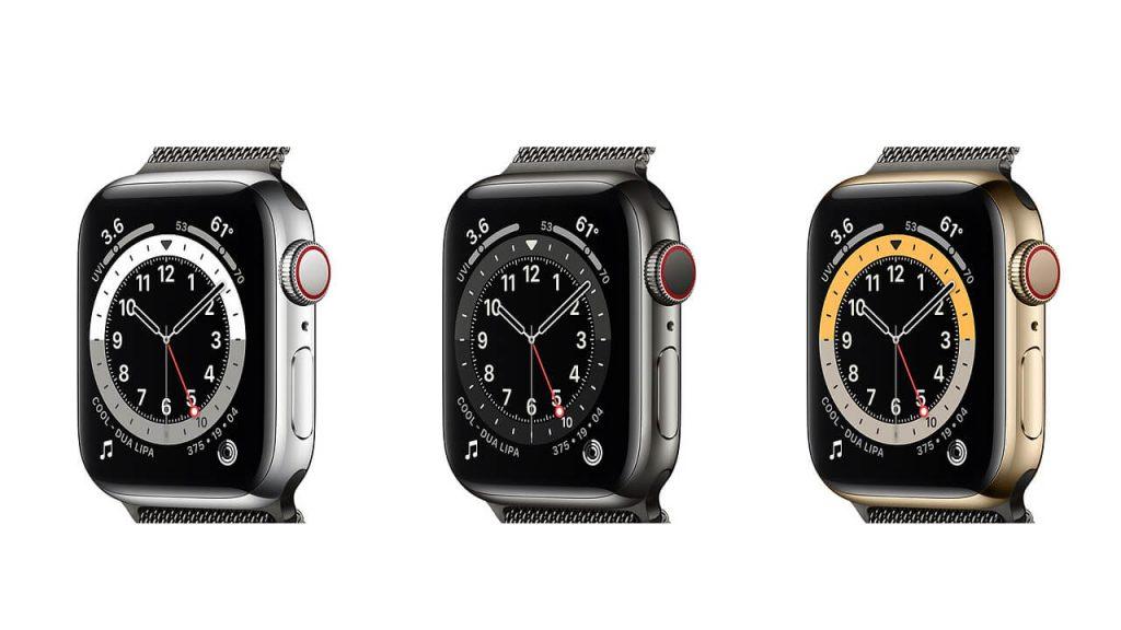 Apple Watch Series 6 ステンレススチールののカラーを比較