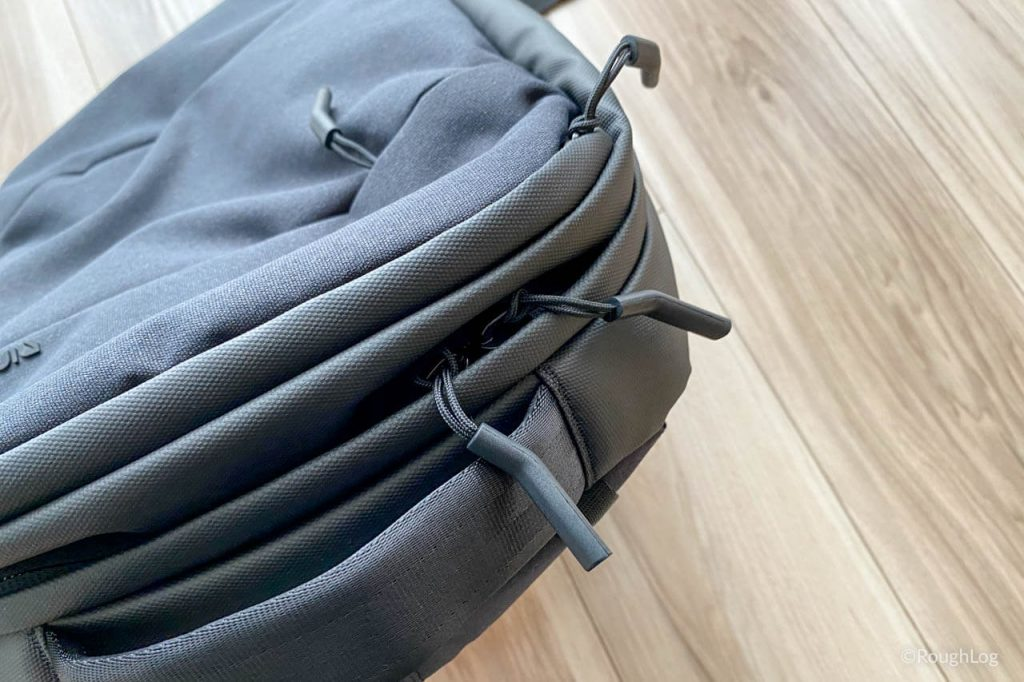 Incase City Dot Backpackのファスナーと引き手